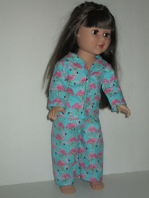 "Flamingo Pajamas for 18"" Doll American Girl Doll Clothes"