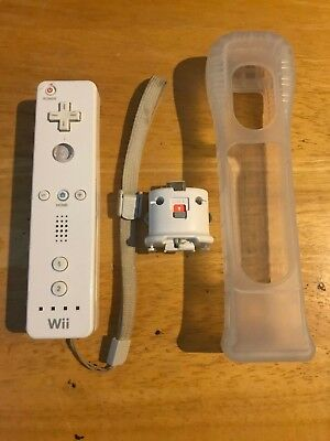 Official Nintendo Wii Remote Controller With Motion Plus Adapter and Extras