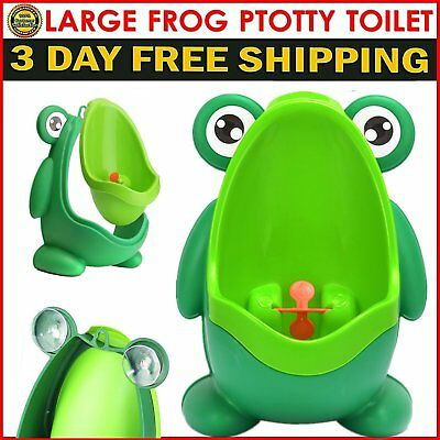 """11""""X8"""" L Frog Kids Potty Toilet Training Children Urinal For Boys Pee Trainer be"""