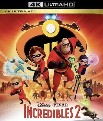 Incredibles 2 (4K Ultra HD, disk only, 2018) Disney / Pixar