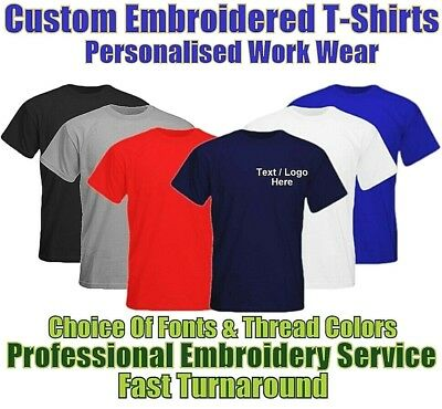 Personalised Custom Embroidered Gildan T-Shirt With Text & Logo Workwear Uniform