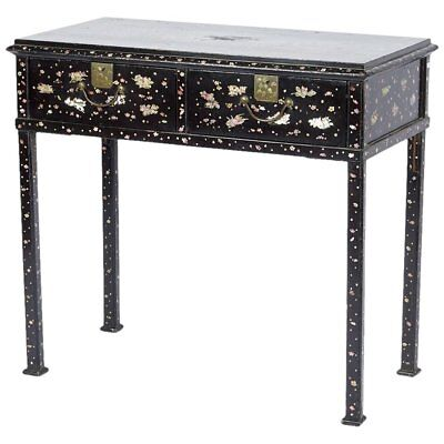 19th Century Japonese Mother-of-Pearl Inlaid Lacquer Table