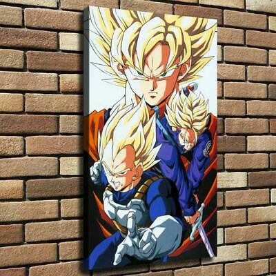 Gohan Vegeta Goku HD Canvas Print Painting Home Decor room Wall Art Picture 4671