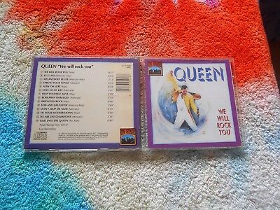 Queen We Will Rock You CD On Stage Pressing Rare Rock 1992 Freddie Mercury