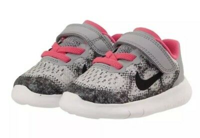 5bcab97026a Girl s Nike FREE RN 2017 (TDV) Toddler Infant Running Shoe 904261 001 Size  9c