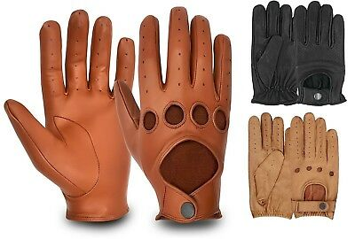 100% Real Leather Men's Retro Dress Driving Fashion Chauffeur Gloves Car Bus