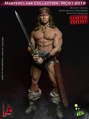 1/6 Barbarian Conan Arno Leather Apparel Suit W/Head Scuplt Kaustic Plastik MC01
