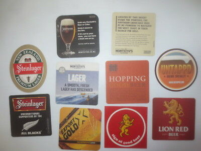 10 different NEW ZEALAND Beer /Breweries  Issue, BEER  COASTERS