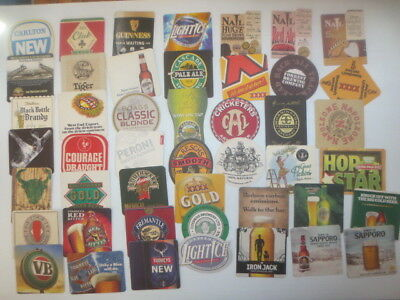 """46 different  AUSTRALIAN Breweries Issued, BEER COASTERS  """" MIXED """""""