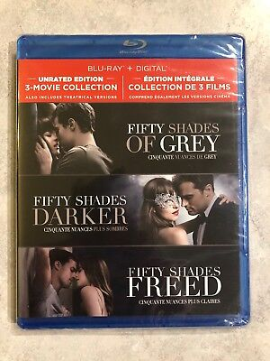 Fifty Shades Of Grey Darker Freed UNRATED 3 Movie Collection Blu-Ray Canada LOOK