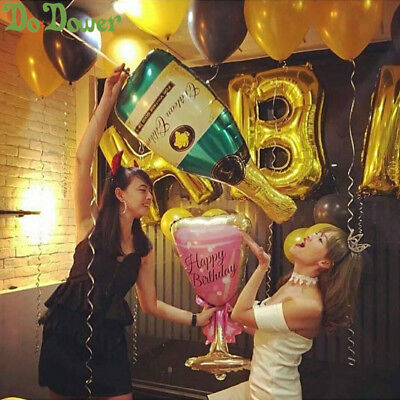 Champagne Cup Beer Bottle Foil Balloons Helium Air Balloon Party Decor Supplies