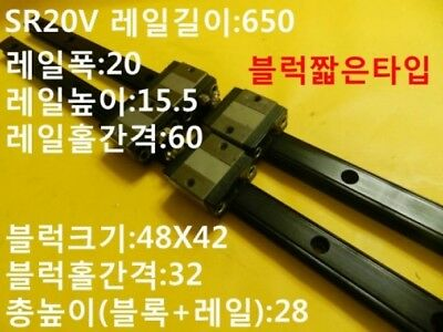 THK Lot of 2 SR15 Y6F04 LM Guide Block SR High Rigidity Radial Type with LM Rail