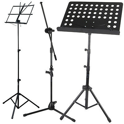 Height Adjustable Folding Music Orchestral Book Holder Tripod Stand Carry Bag