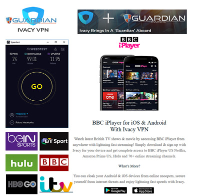 5 Year Ivacy VPN Fire Stick Win IOS Android Router US-Netflx UKiPlayer expats