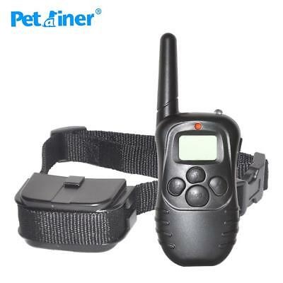 Dog Training Collar 300M Remote Control 100LV Shock Vibra Electric