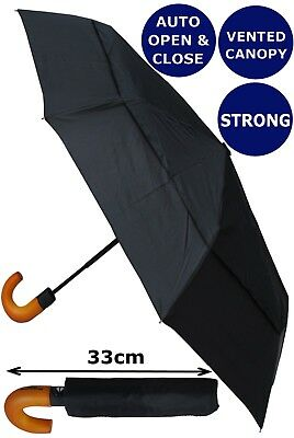 Collar And Cuffs London - Windproof Strong Automatic Compact Umbrella Rrp £50