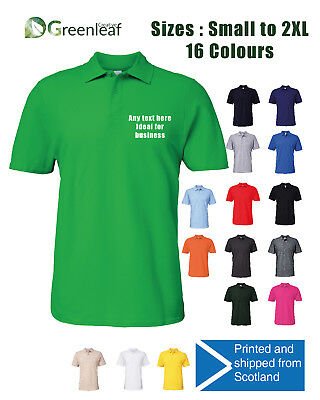 Custom Printed Polo Shirt Unisex  Stag Workwear Event Personalised Printed Polo
