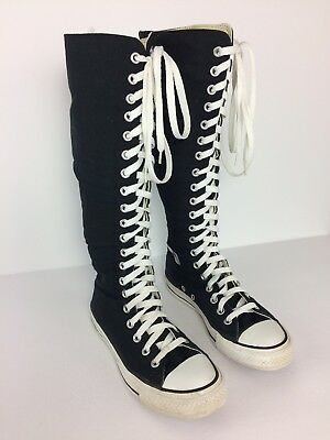 4f5d127894a Converse All Star Women s ZipUp Lace Chuck Taylor Knee High Top Sneakers  Size 6