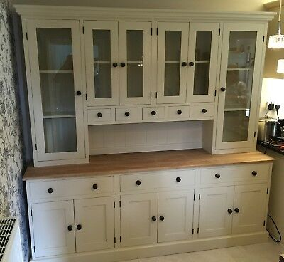 7 ft Glazed top dresser with spice drawers