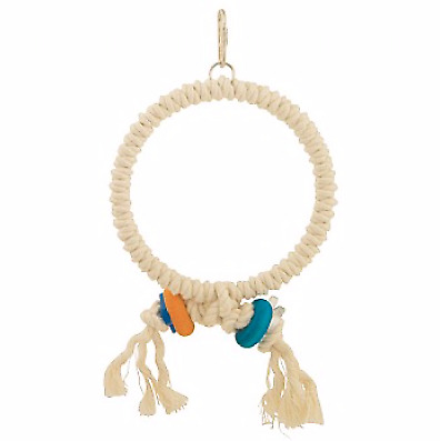 Cotton Preening Ring Parrot Toy - Medium Cotton Swing For Exercise And Preening