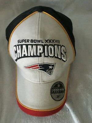 Brand New set of 2 New England Patriots Super Bowl XXXVIII 38   AFC 2003  Hats 0cdd7694bed