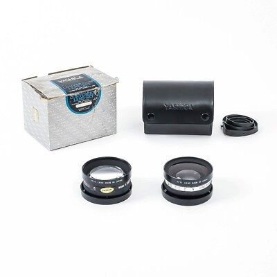 Yashica Conversion Set Electro 35 Telephoto & Wide Angle Lenses Japan w/ Case
