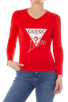 Guess T-shirt à manches longues femme Ls Vn Icon Tee Color W91I58 K46D0 cd78710a720