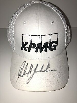 008a34a867d phil mickelson signed autographed KPMG white hat rare JSA   P87566