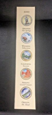 2010 Colorized National Parks America the Beautiful Coins Set of all 5 Quarters