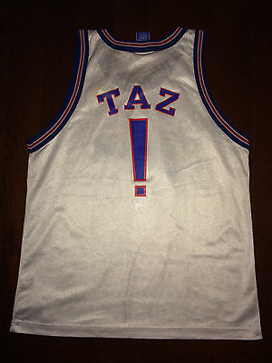 364219080 TUNE SQUAD Vtg 90s 1996 Champion TAZ Space Jam Jersey monstar Youth XL or  Men 40