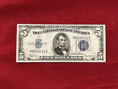 FR-1651 1934 A Series $5 Silver Certificate *Extremely Fine* BP#1076