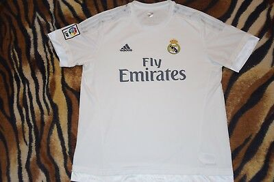 c8e010f3ea6 REAL MADRID jersey adidas shirt white fly emirates climacool lfp L large Men