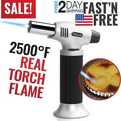 Cooking Torch Kitchen Creme Brulee Culinary Food Blow Torch Chef Baking Pastry