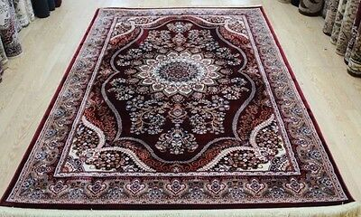 Red Oriental Persian Classic Style Thick Soft Rug Home Living Room Carpet Rugs
