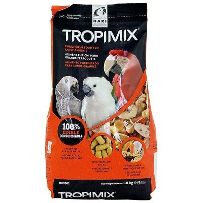 1.8kg Hagen Hari Tropimix Large Parrot Food Mix Macaw Cockatoo African Grey NTO