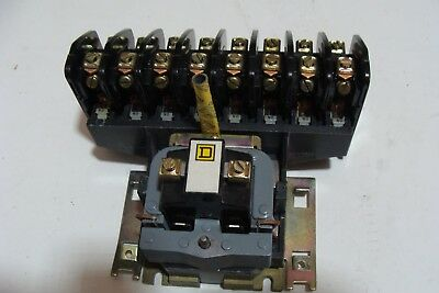 Square D 8903L080 8 Pole Lighting Contactor 120 Coil  Free Shipping