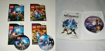 Nintendo Wii Video Game Lego Harry Potter Golds Dance Workout Disney Epic Mickey
