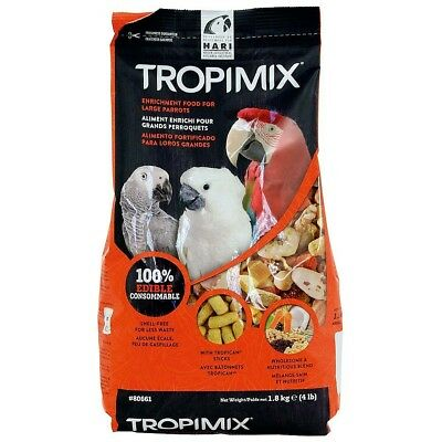9.07kg Hagen Hari Tropimix Large Parrot Food Mix Macaw Cockatoo African Grey NTO