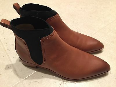 b2242bb80 New Women Ted Baker Shoes 6 Maki Ankle Leather Boots Brown Tan Black Bootie!