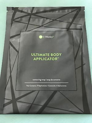 IT WORKS (4) Body Wraps Ultimate Applicators Tone Tighten Firm NOT EXPIRED