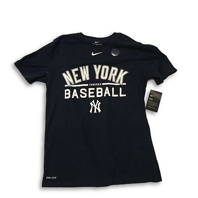 another chance 6b123 9f8b3 NWT New York Yankees Nike Dri-Fit Cotton Baseball Practice Medium T-Shirt