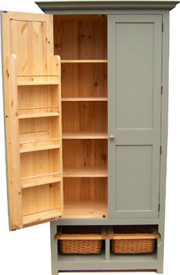 Larder unit, pantry unit with wicker baskets