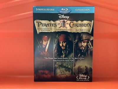 Pirates of The Caribbean 1, 2 & 3 Trilogy Blu-ray Collection 3 Movies Boxset
