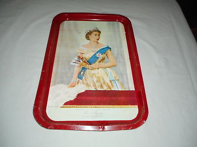 Willow Tray Souvenir of The Coronation of Her Majesty Queen Elizabeth ll 1953