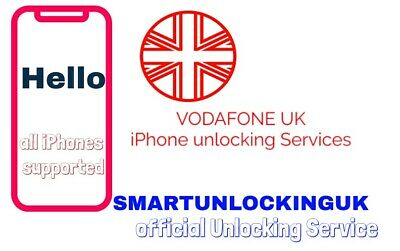 Vodafone UK iPhone X 8 8PLUS 6 7 PLUS unlocking service ONLY IMEI 5-6 WEEKS FAST