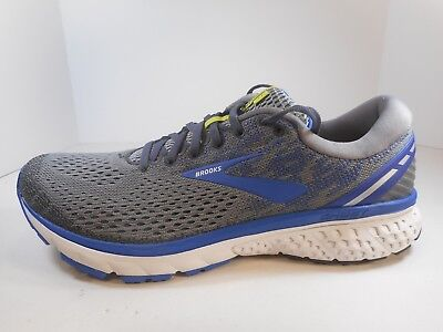 98e77d23d2fde MENS BROOKS GHOST 10 Running Shoes Trainers Silver Blue White ...
