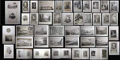 c1646 69 Bookplates & Engravings ALBUM Antique Illustrated COLLECTION! Book