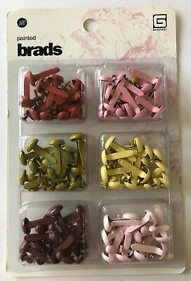 PAINTED BRADS(180pc)Basic Grey•Christmas •Holiday•Reds•Green •Yellow•Pinks•Split