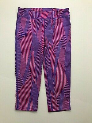Under Armour NWT Youth Girls Capri Leggings Fitted Size L XL Pink Purple Print