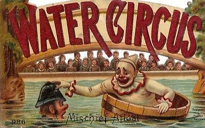 """Griswold Coffee - Trade Card Water Circus"""" British Bobbie/ Clown By Raphael Tuck"""